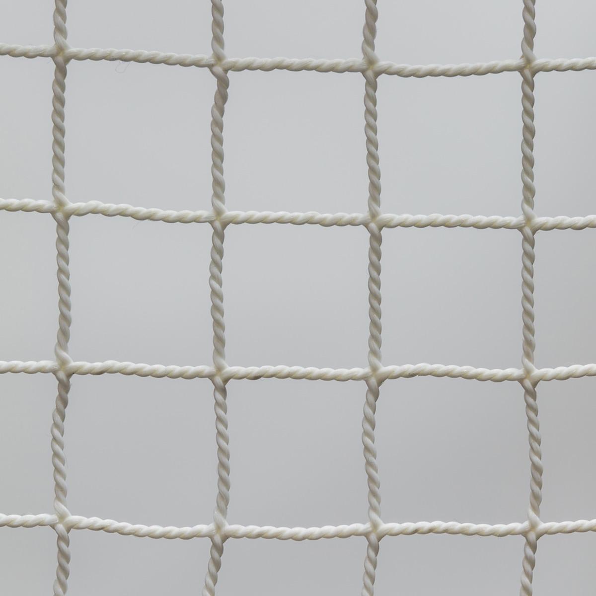 【規格サイズ品】防炎ポリプロピレン18mm角ホワイト